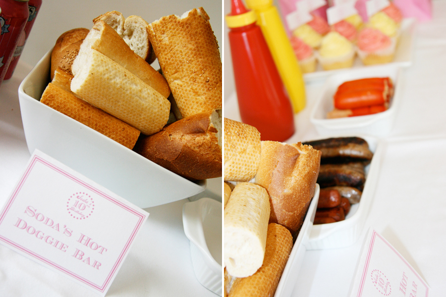 Hot Dog Bar - Dog Birthday Party | Pretty Fluffy