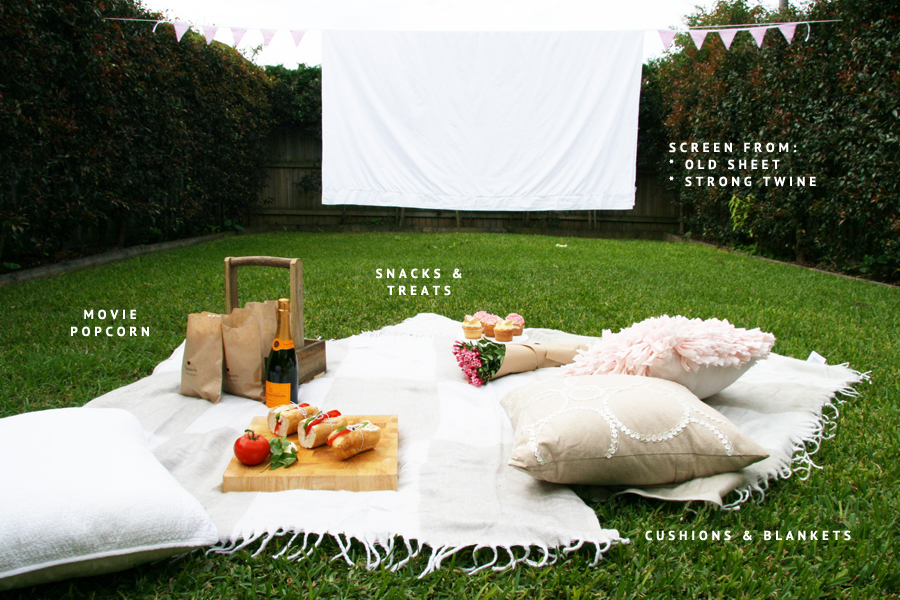How to make your own Outdoor Cinema | Pretty Fluffy