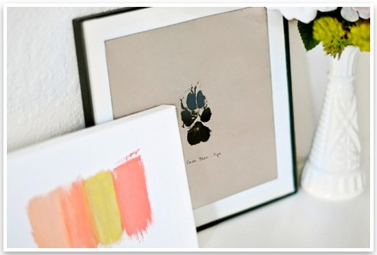 DIY Paw Print Wall Art by Sarah Dickerson | Pretty Fluffy 4