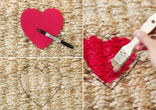 Valentine Welcome Rug DIY | Pretty Fluffy