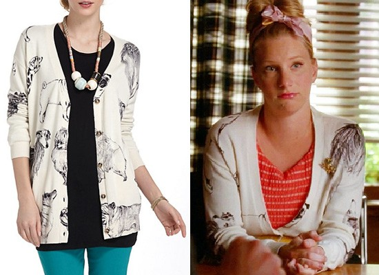 Anthropologie Pooch Posse Cardigan seen on Glee | Pretty Fluffy