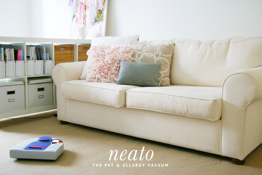 The Neato Pet Vacuum - a robotic and allergy friendly cleaner. Full review of the Neato pet & allergy robot vacuum - picks up more hair than other robot vacuums - perfect for pet owners tired of dog hair.