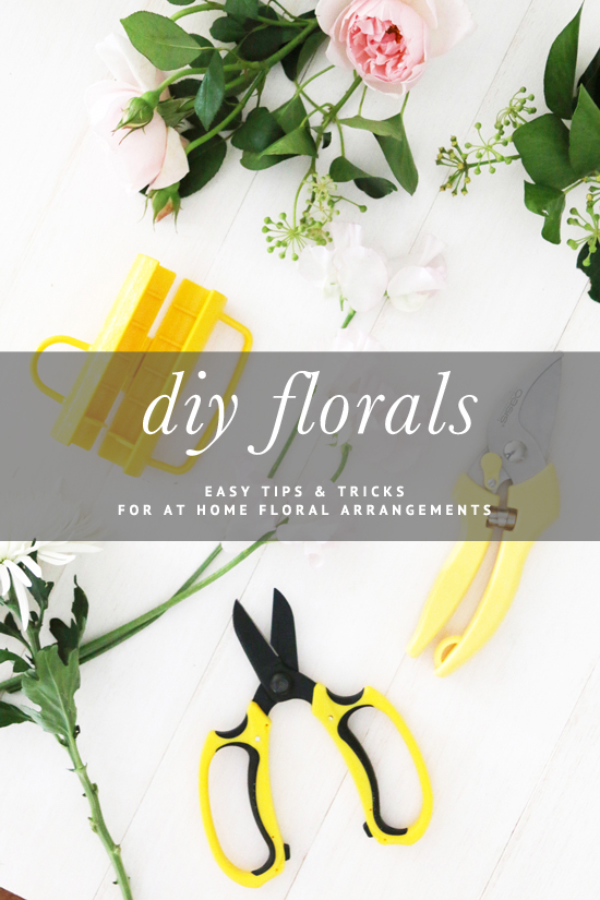 DIY Floral Arrangements At Home - How to do your own floral arrangements at home - including bouquets, vase arrangements and posies. Includes full photo tutorials and handy tips!