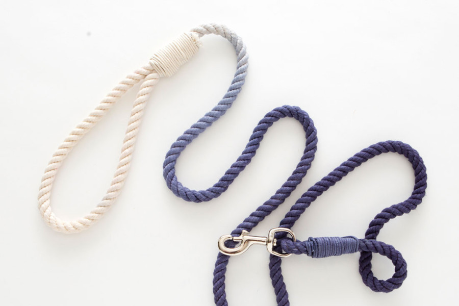 DIY Dip Dyed Rope Leash