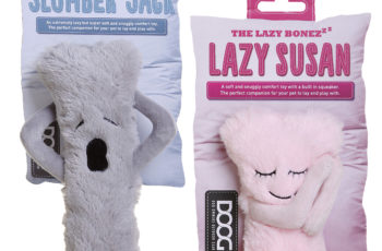 'Lazy Susan' and 'Slumber Jack' Lazybonezzz dog toys have been designed as a comfort toy & sleeping companion for dogs and new puppies. Win yours here!