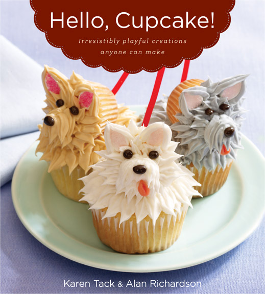Hello Cupcake Dog Cupcake Recipe - Super fun Hello Cupcake recipes and tutorials including the Hello Cupcake Westie Dog cupcake from the Hello Cupcake book.