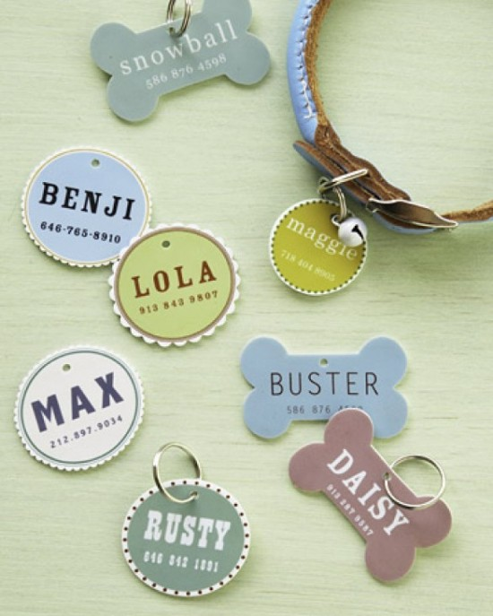 DIY Martha Stewart Pet Tags