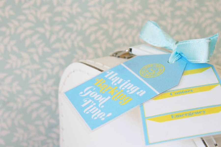 DIY Printable Pet Luggage Tag | Pretty Fluffy