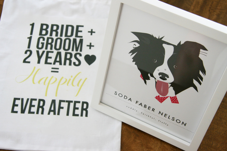 ... Second Anniversary Cotton Gift Bag | Pretty Fluffy : 2nd wedding anniversary gifts ideas - medton.org