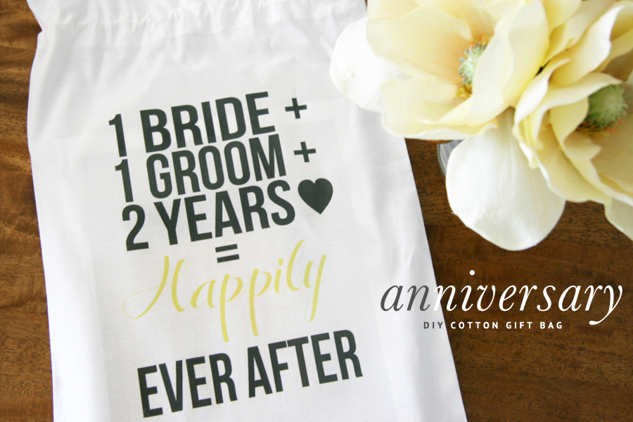 Printable 2nd Anniversary Cotton Gift Bag Pretty Fluffy