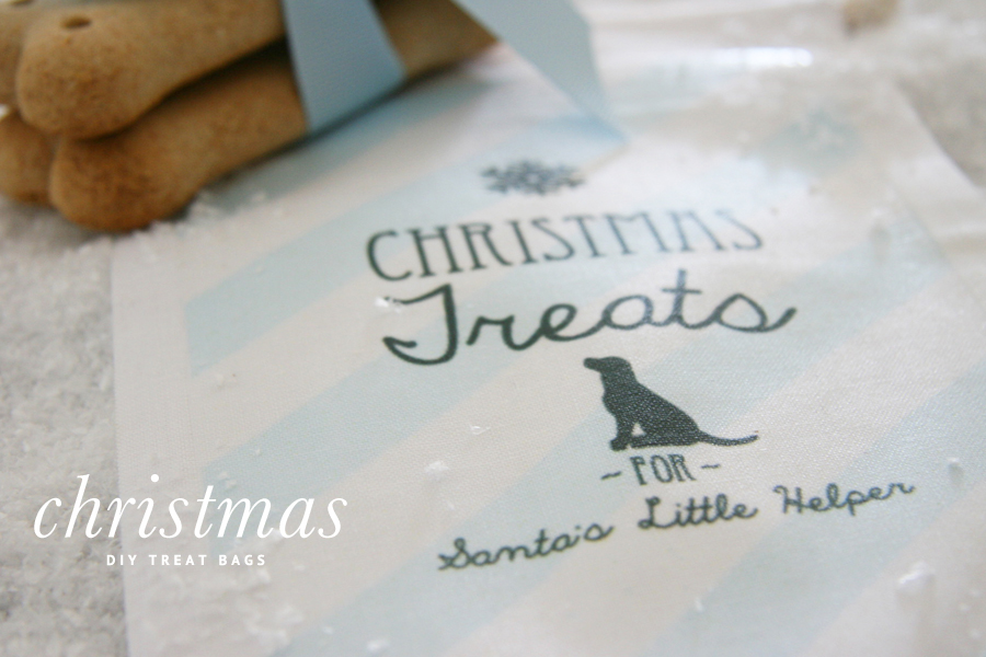 DIY Christmas Dog Treat Bags | Pretty Fluffy