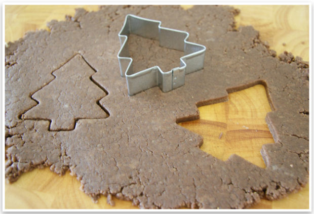DIY Dog Biscuits | Make your own DIY dog biscuits with this easy tutorial that is perfect for the holidays! Make your own Christmas Tree dog biscuits your pup will love!