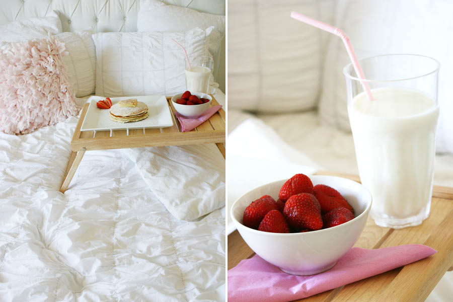 Valentine's Day Breakfast in Bed | Pretty Fluffy