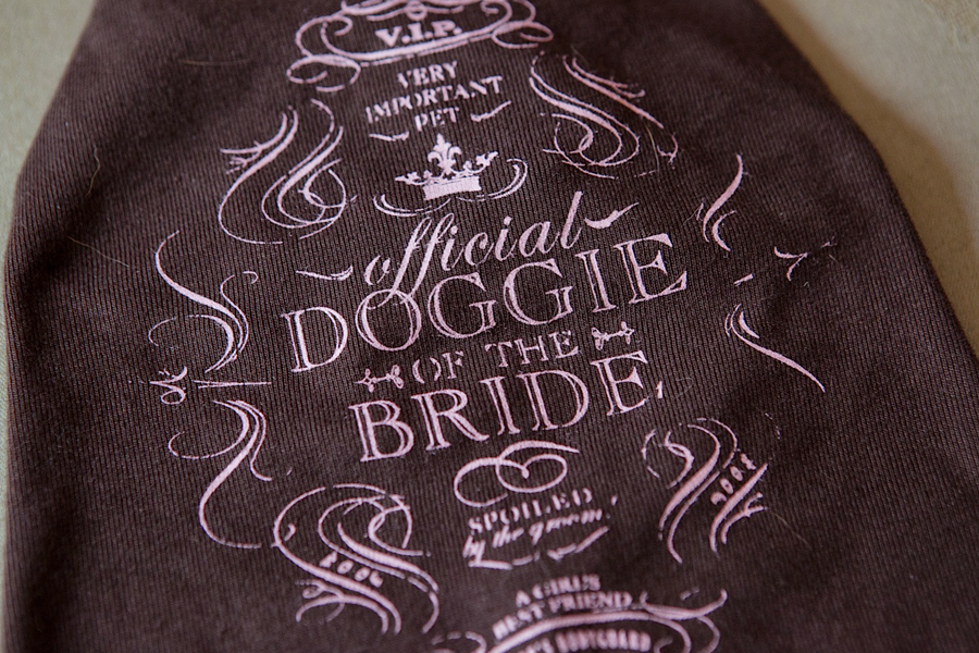 Doggie Tee! Dogs at Weddings | Pretty Fluffy