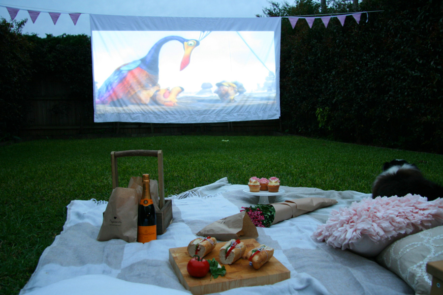 Pet Friendly Backyard Cinema | Pretty Fluffy