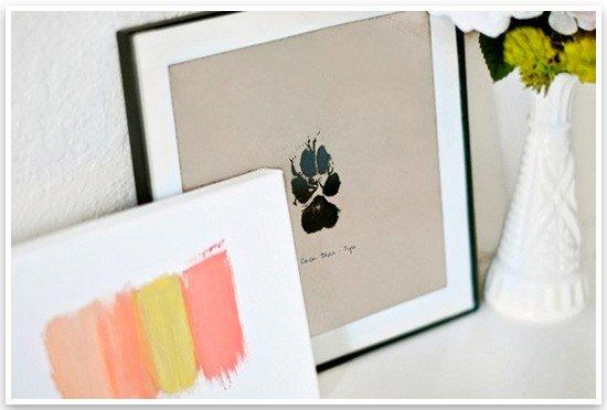 DIY Paw Print Wall Art by Sarah Dickerson | Pretty Fluffy 4