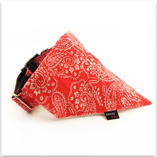 Street style dog bandanas from Dharf Dogs - the collar and bandana combo keeps your pooch safe and comfortable, while still showing some serious style.