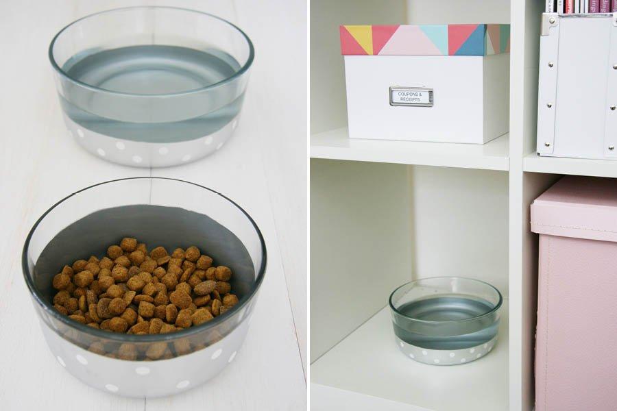 DIY Color Dipped Dog Bowls | Pretty Fluffy