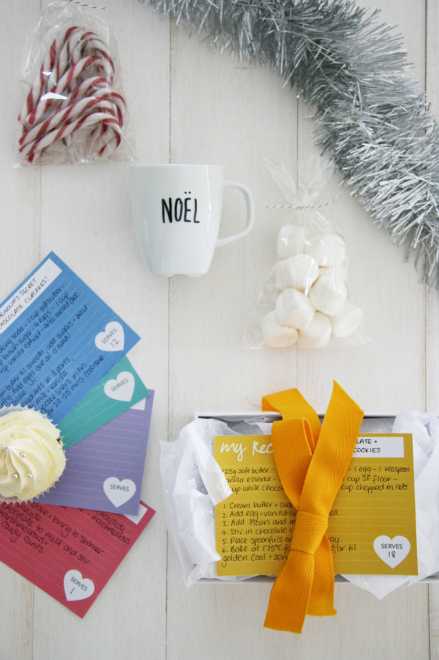A full list of ideas for last minute DIY Christmas gifts that require only a trip to the grocery store! Include free printable gift cards.