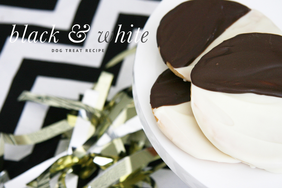 Black & White Cookie Dog Treat Recipe | Pretty Fluffy