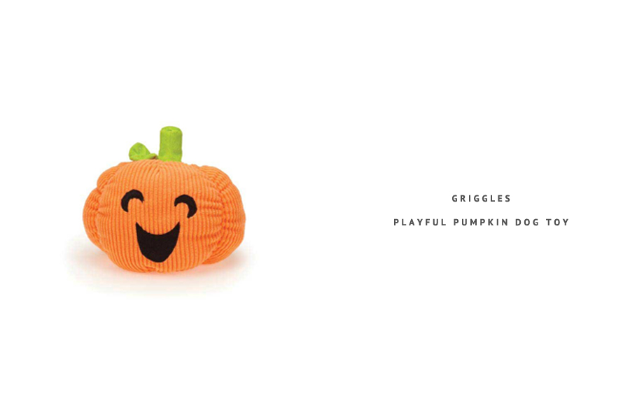 Griggle Playful Pumpkin Dog Toy - perfect for Halloween