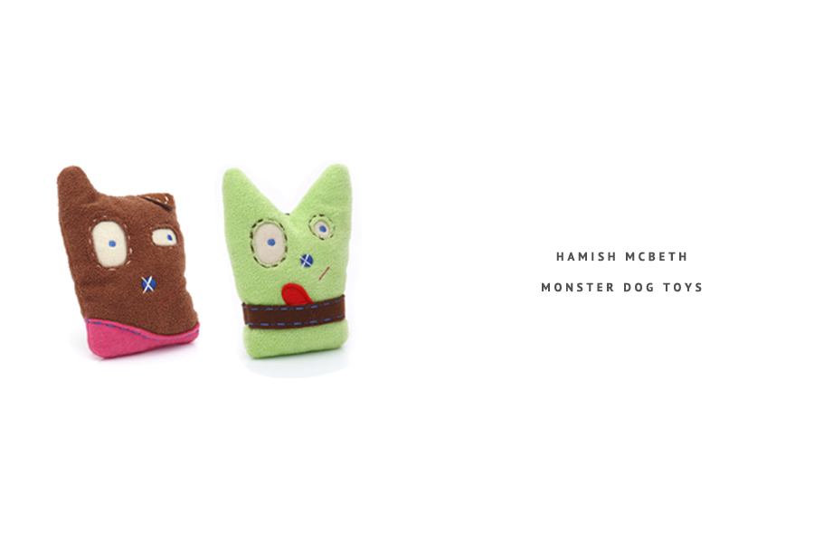 Hamish McBeth 'Monster' Dog Toys - perfect for Halloween