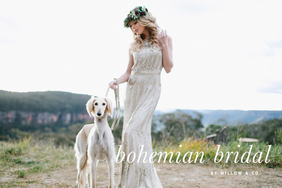 Blue Mountains Bohemian Bridal Shoot by Willow & Co. | Dogs at Weddings | Pretty Fluffy