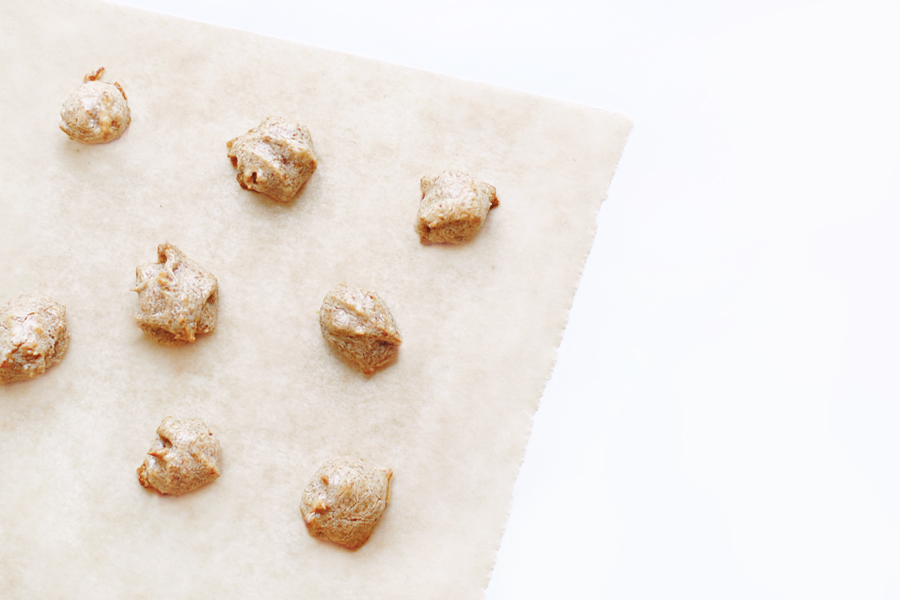 Banana-Almond Puppy Treats Recipe | The perfect treat for new puppies! We've created a soft, yummy, and super healthy puppy treats recipe that we hope your puppy (and even full grown doggies) will love as much as ours.