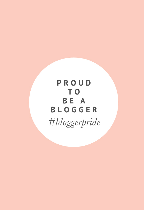 Proud to be a Blogger #bloggerpride | Pretty Fluffy