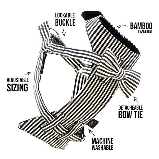 Dharf Bow-Tie Dog Harness   Pretty Fluffy