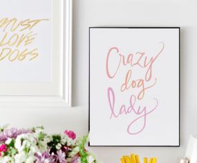 Crazy Dog Lady Print // Available at the Pretty Fluffy Print Shop // www.prettyfluffy.com