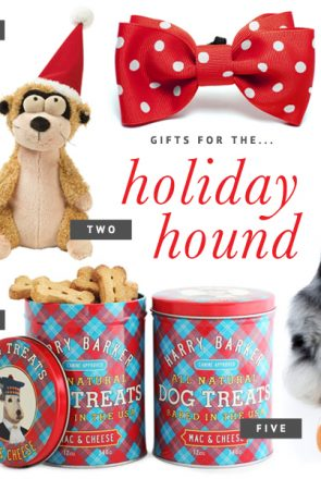 Holiday Gift Guide for Dogs: For the Holiday Hound // The ultimate holiday gift guide for dogs - the best stocking stuffers, dog treats, toys and accessories to pamper your pet this holiday season. // www.prettyfluffy.com