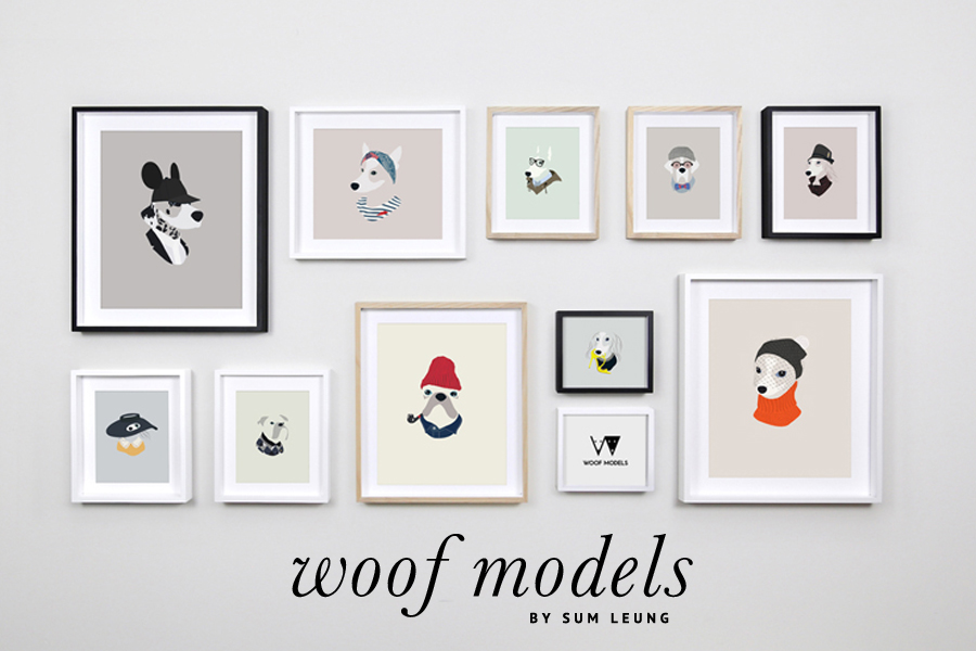 Woof Models Pet Portraits by Sum Leung