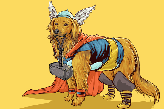 Dogs of the Marvel Universe by Josh Lynch