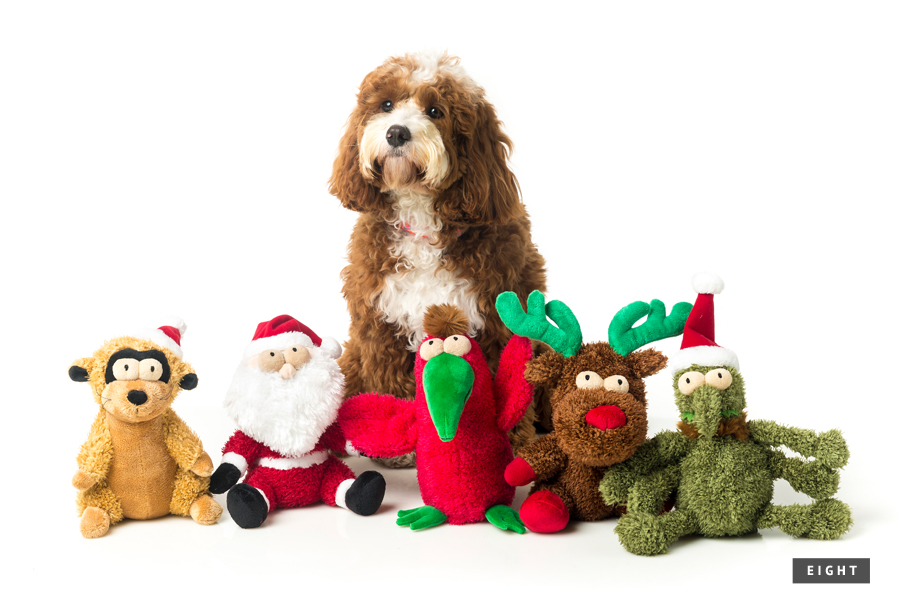 Holiday Gift Guide for Dogs: For the Holiday Hound - 2015 // The ultimate holiday gift guide for dogs - the best stocking stuffers, dog treats, toys and accessories to pamper your pet this holiday season. // www.prettyfluffy.com
