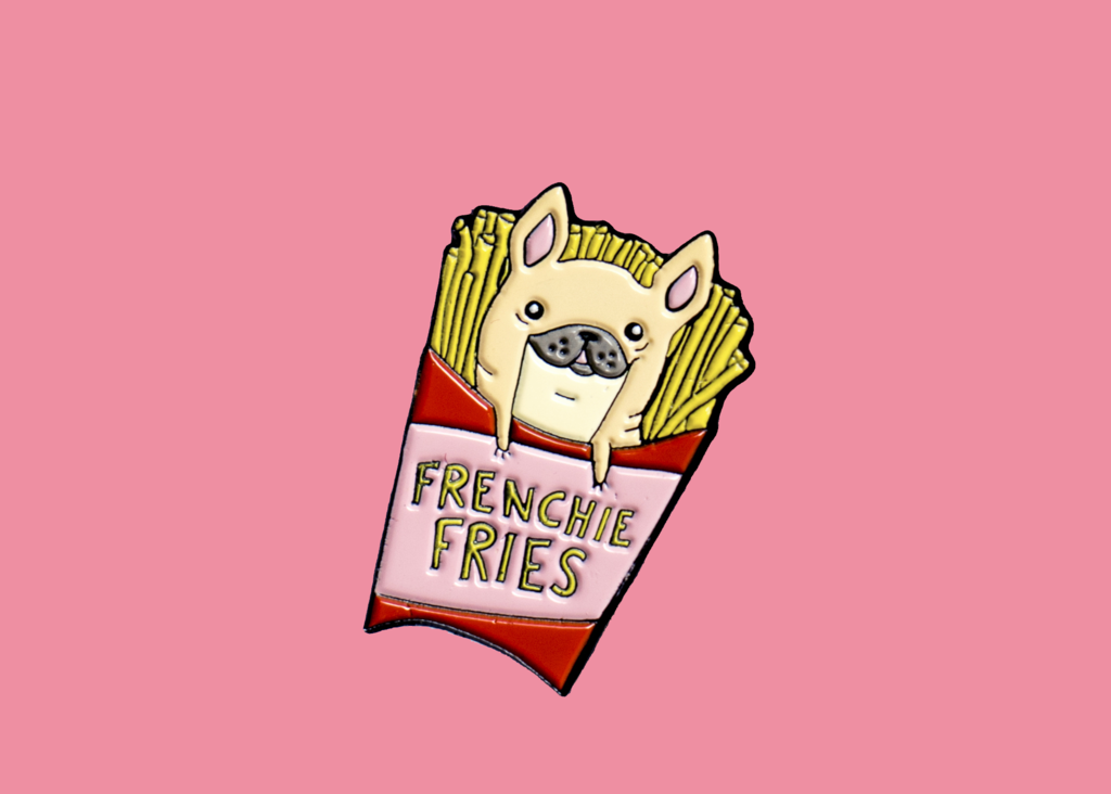 Frenchie Fries Enamel Pin | Enamel Pins for Dogs Lovers & Foodies by PinstaPals