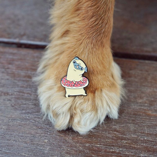 Enamel Pins for Dogs Lovers & Foodies by PinstaPals