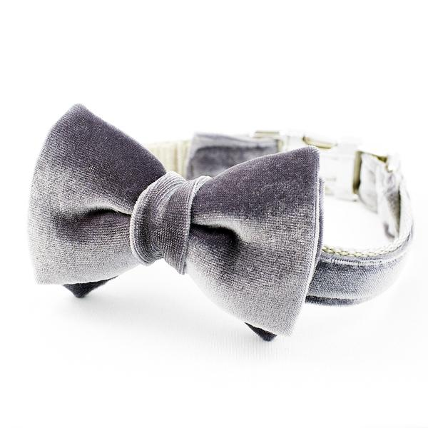 Velvet Dog Bow Tie Collars by Rover Pet Boutique