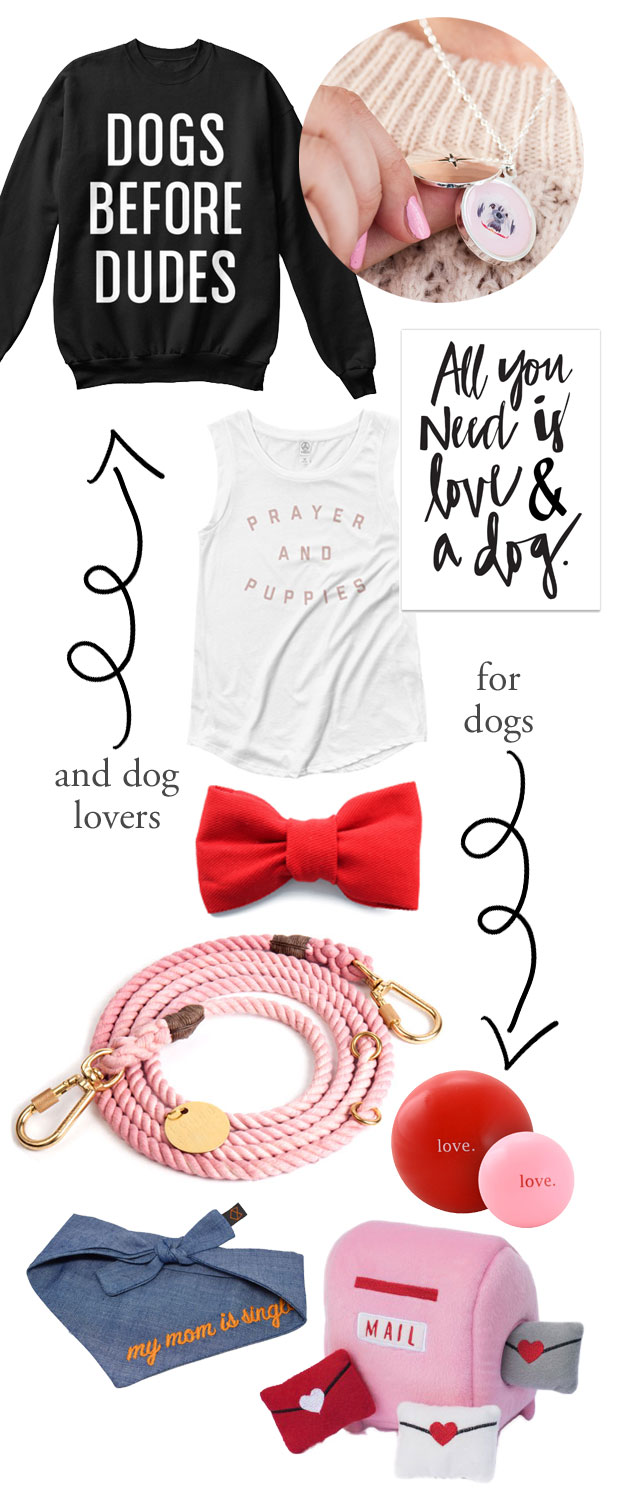 Our top picks for Valentine's Day Gifts for dog lovers and dogs. Spoil the dog mum or dog dad in your life, or just treat yo' self!