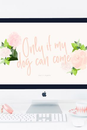 'Only if My Dog Can Come' Dog Lovers Desktop Wallpaper