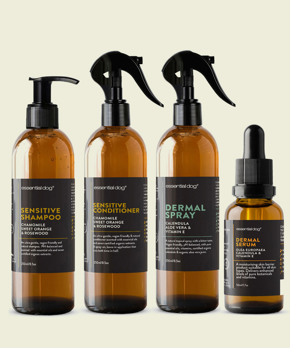 Dog shampoos for sensitive skin that WORK! The best natural, paraben free shampoos with active ingredients to stop irritation & itching for all dog types.