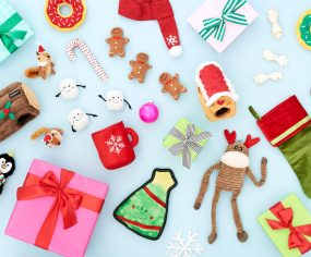 The ultimate 2018 holiday gift guide for dogs - the best stocking stuffers, dog treats, toys and accessories to pamper your pet this holiday season.