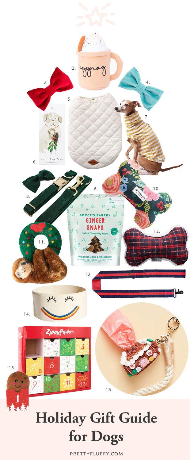 The ultimate 2019 holiday gift guide for dogs - the best stocking stuffers, dog treats, toys and accessories to pamper your pet this holiday season.