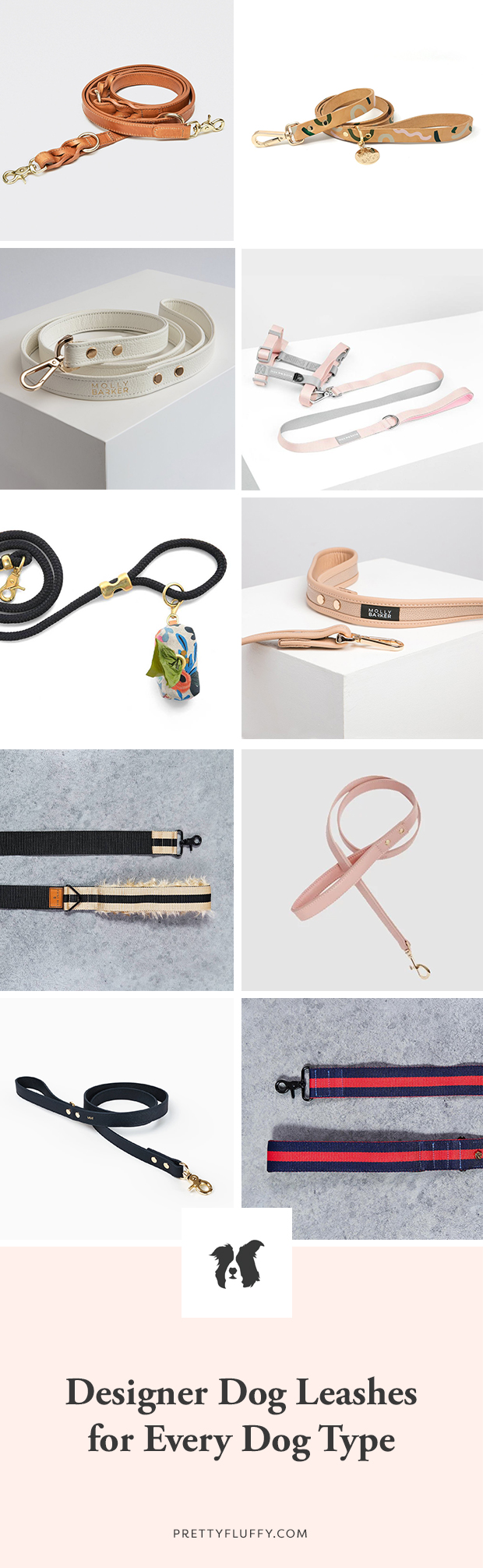 Our top picks of designer dog leashes this season - for all breeds and sizes. Includes leather, fabric, rope and convertible leads and accessories.