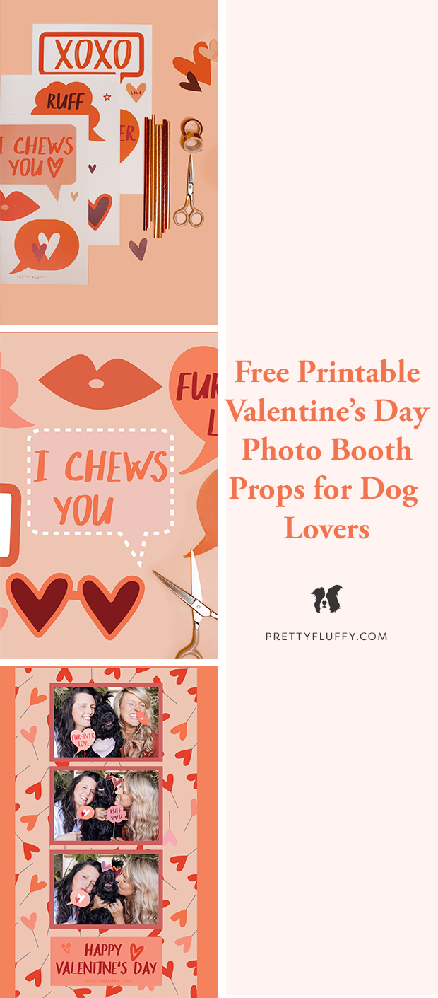 Pretty Fluffy Free Printable DIY Photo Booth Props for Dog Lovers