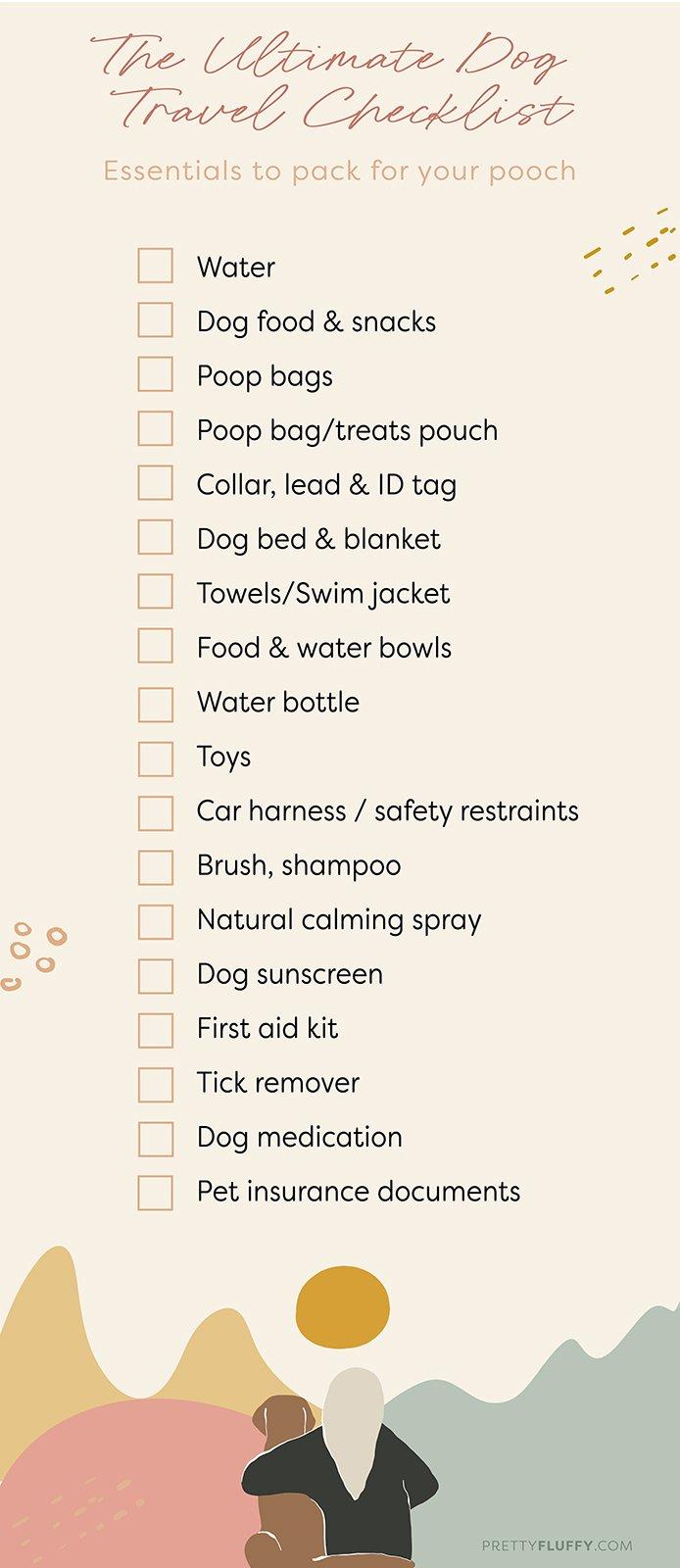 Pretty Fluffy Printable_The Ultimate Dog Travel Checklist