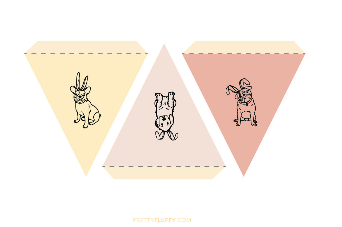Free Printable Dog Easter Bunting - Pretty Fluffy